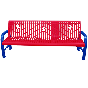 7201 (DOI) - Deluxe Dog Paw Bench