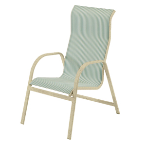 W1550HBBT - Ocean Breeze Sling High Back Dining Chair