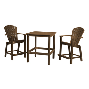 Classic 38 Inch High Dining Table With Two 26 Inch High Dining Chairs