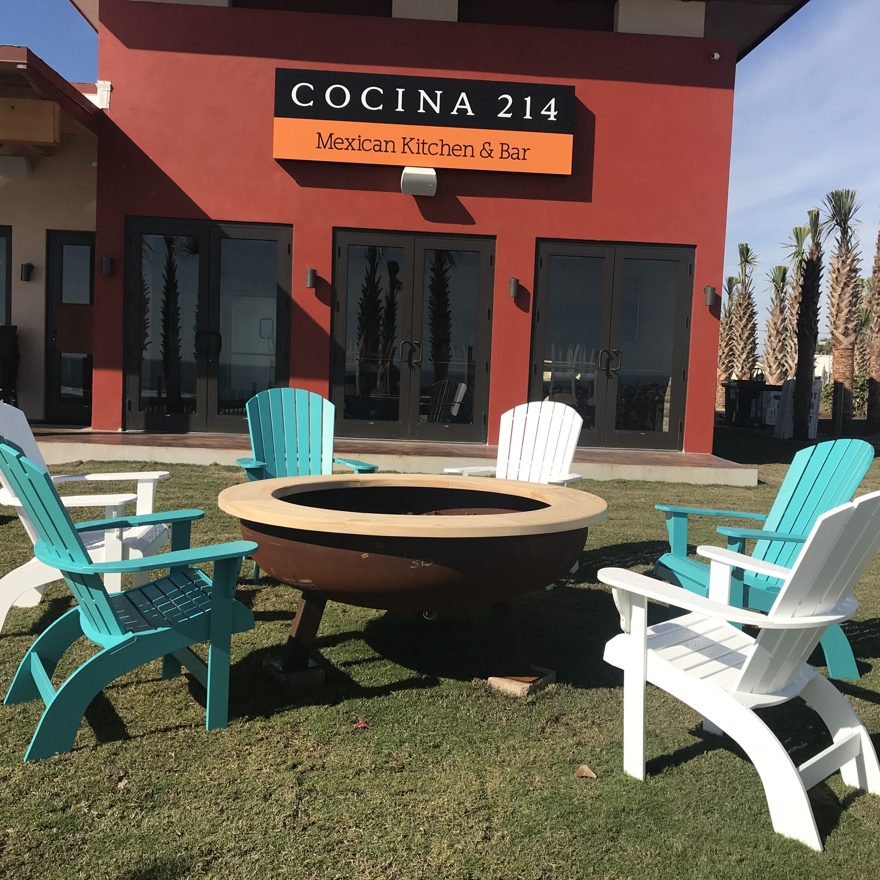 Bon Cocina 214 In Daytona Beach Needed Something Beautiful And Durable For  Their Firepit Areas. We Provided Windward COMFORT HEIGHT Adirondack Chairs .