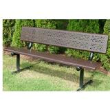 601-677 - Standard 6' Bench with Beveled Back