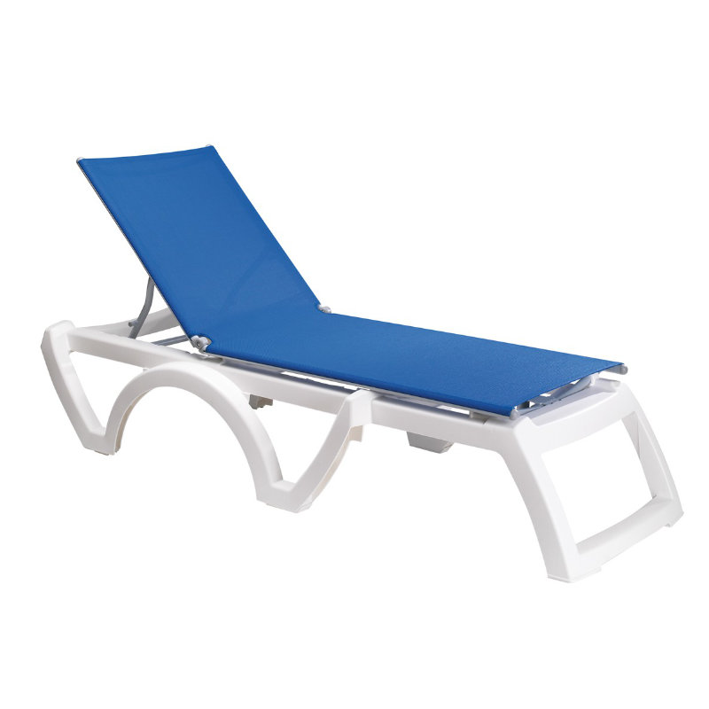 grosfillex bahia stackable chaise lounge chair white