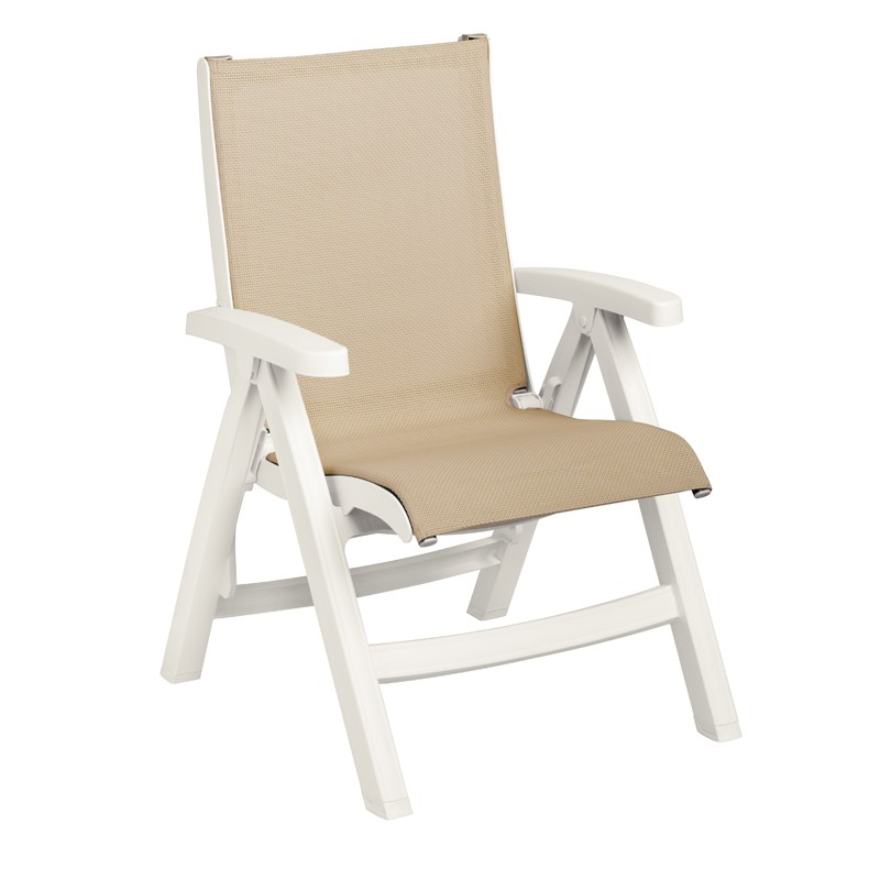 Belize Midback Folding Resin Patio Dining Chair Et Amp T