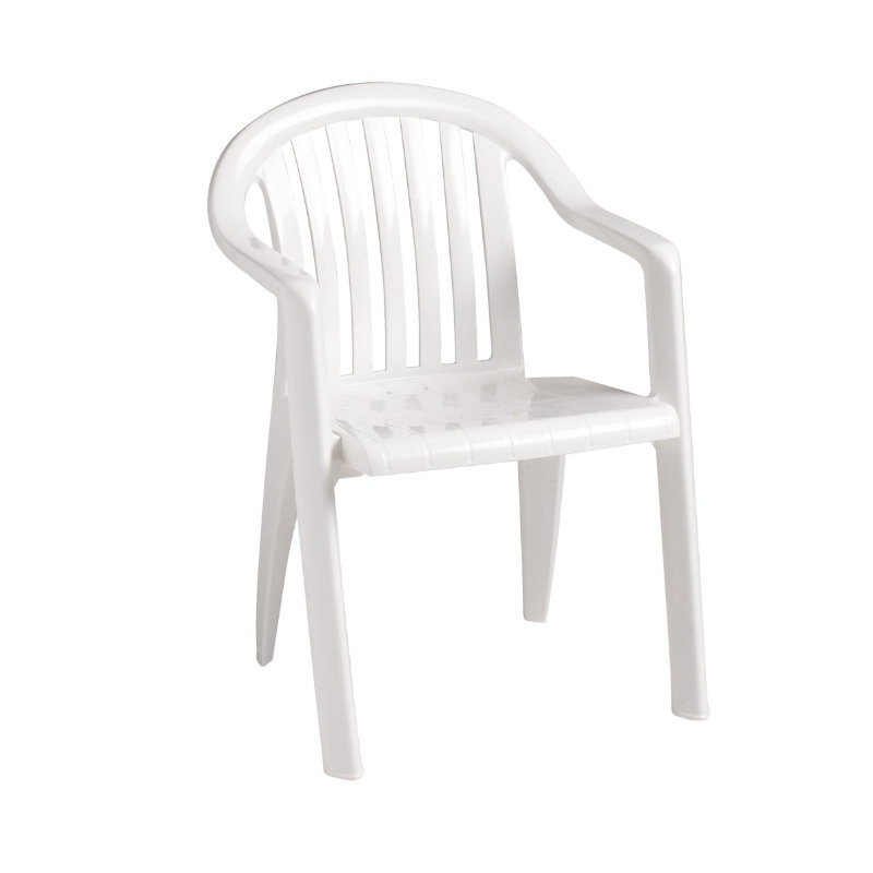 Grosfillex Miami Lowback Resin Patio Dining Chair W Arms