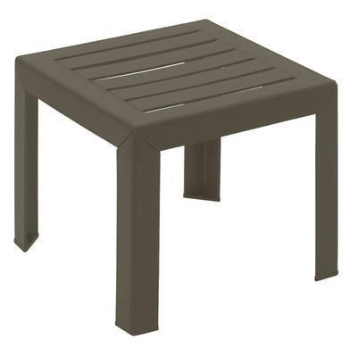 Grosfillex Bahia 16 In X 16 In Resin Patio Low Table