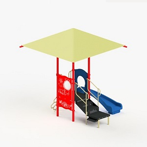 STR35172R - 0 Cathy Playground with Integrated Shade