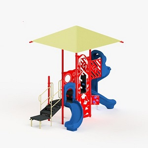 STR352280R - 0 Molly Playground with Integrated Shade