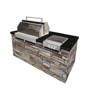 "300613-LPSS/60 - 33"" Stainless Steel Grill with Hood at Side Burner"
