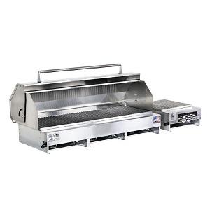 "300612-LPSS/60 - 49"" Stainless Steel Grill with Hood and Side Burner"