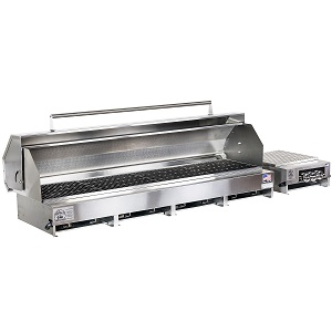 "300610-LPSS/60PKG - 65"" Stainless Steel Grill with Hood and Side Burner"