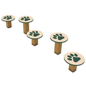Recycled Stepping Paws