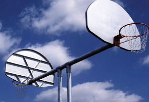 541-864 - SportsPlay Double Basketball Backstop