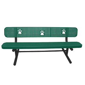 7202 - Basic Dog Paw Bench