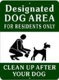 7733 - Designated Dog Area Sign