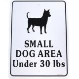 7237 - Small Dog Area Sign