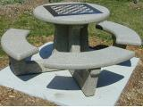 T6140 - Doty and Sons Round Table with Optional Checkerboard