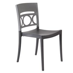 1657 - Grosfillex Moon Stacking Side Chair
