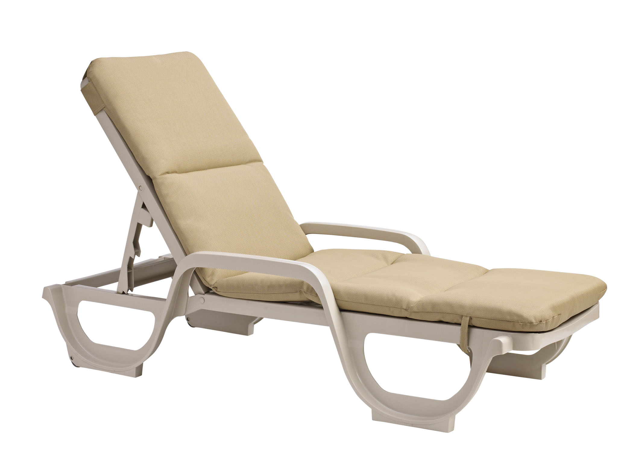 Grosfillex Contract Chaise Lounge Chair Cushion With Hood