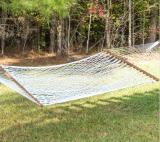 P-11 - Hatteras Small White Polyester Rope Hammock