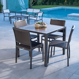 DOMCOMBO - Dominica Wicker Outdoor Seating Collection