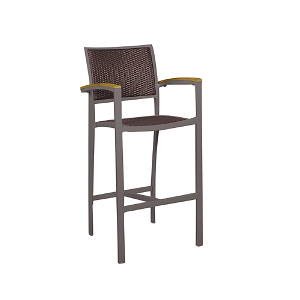 DOM402 - Dominica Wicker Barstool with Arms