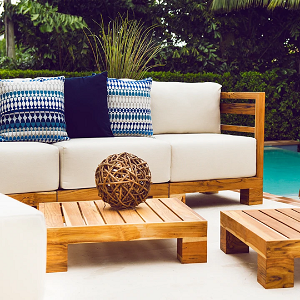 SUNSET COLLECTION - Sunset Teak Wood Deep Seating Collection
