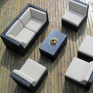 TANCOMBO - Tangier Wicker Deep Seating Collection