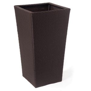 Large Square Wicker Pot