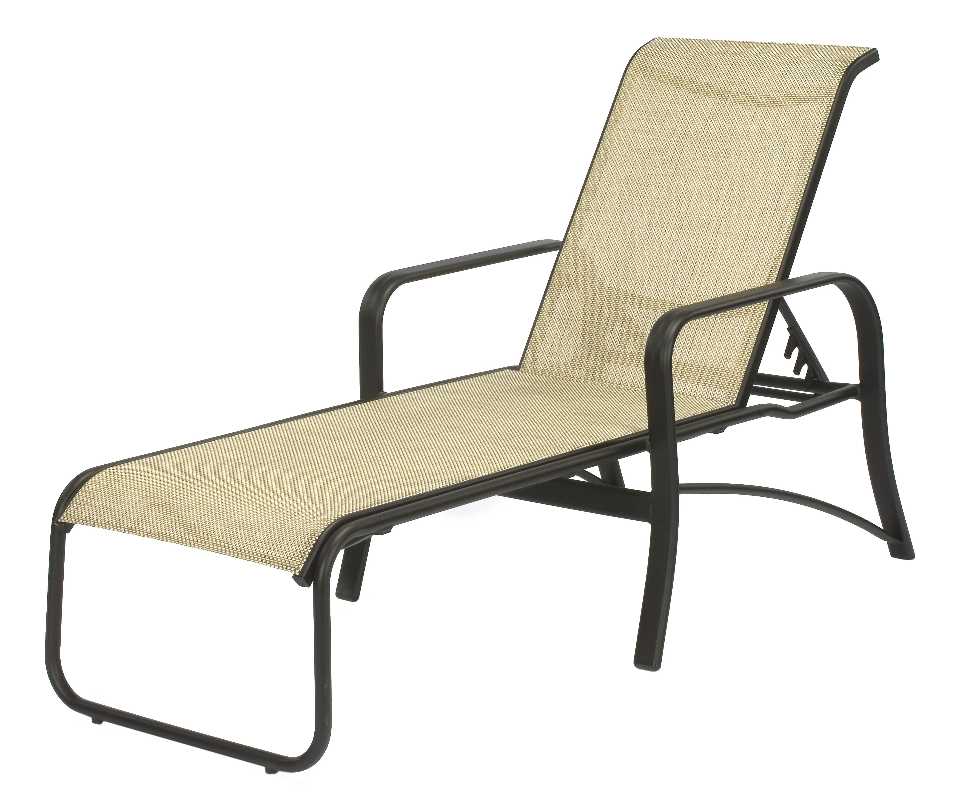 16 in Seat Montego Bay Aluminum Sling Patio Chaise Lounge Chair