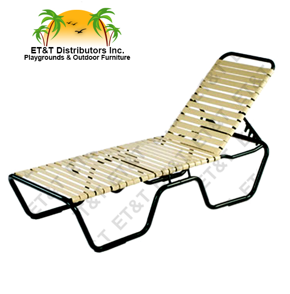 Neptune Aluminum Strap Chaise Lounge With A 20 Quot Seat Height