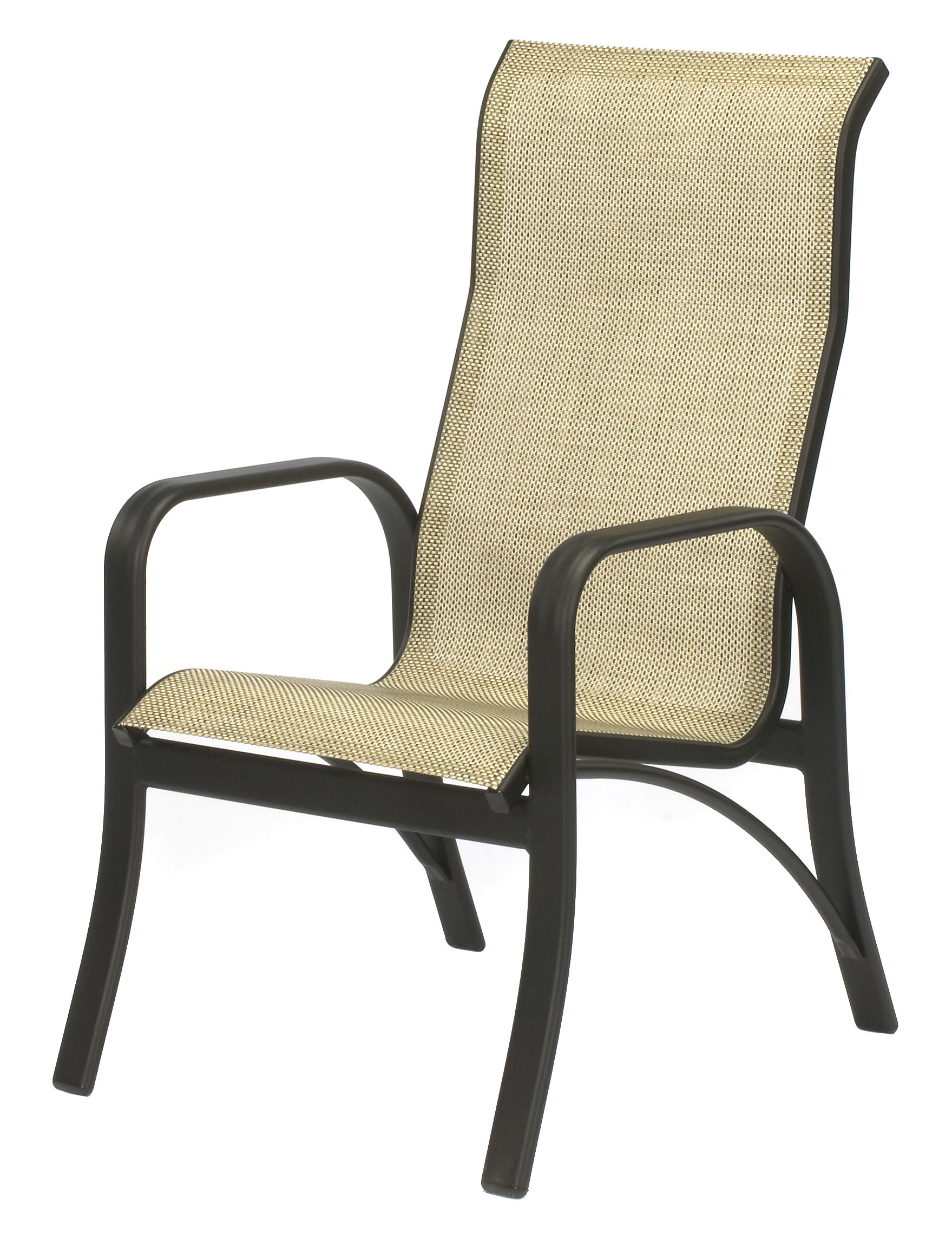 Montego Bay Aluminum Sling High Back Dining Chair Et Amp T