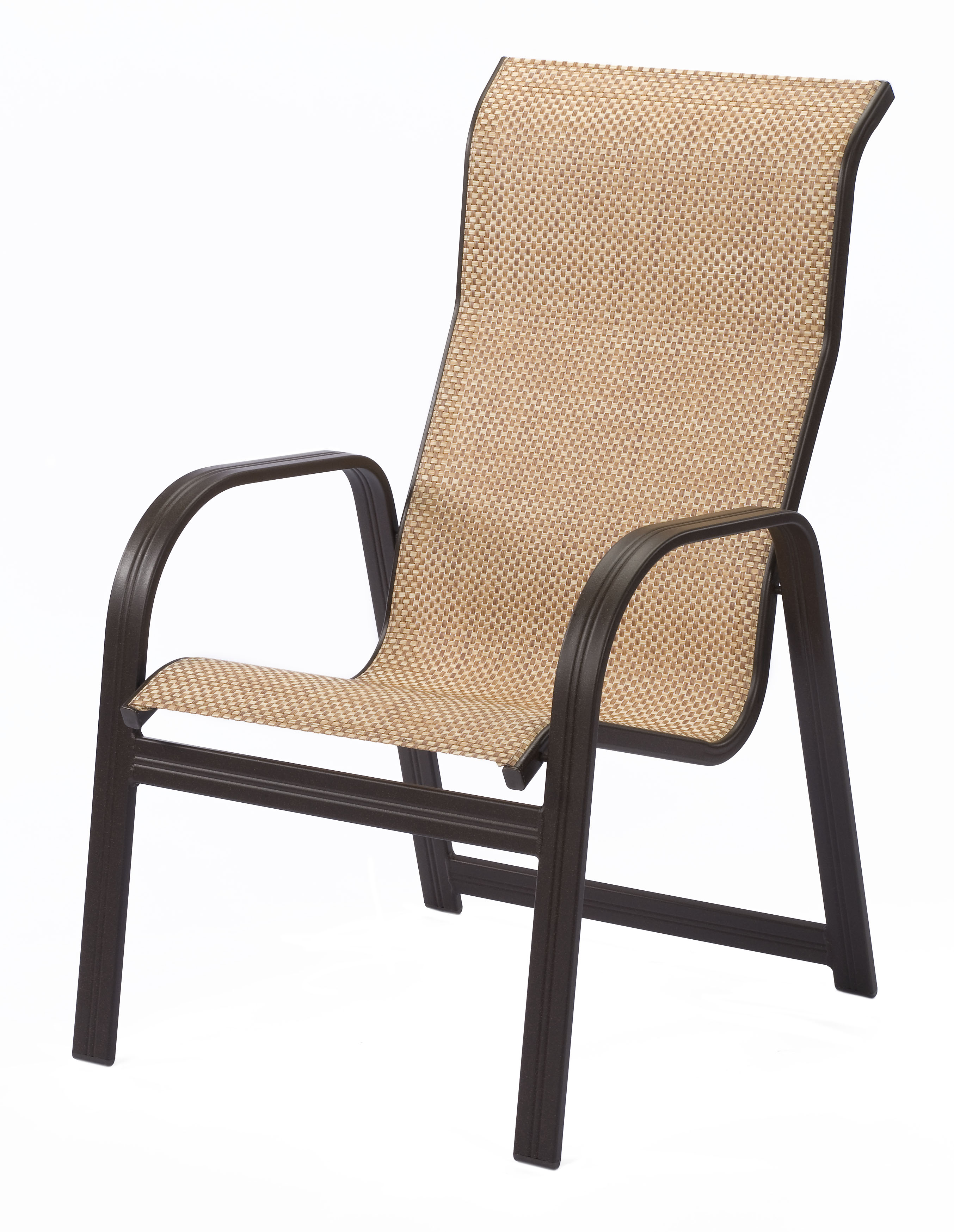 sc 1 st  ETu0026T Distributors & Cabo Sling High Back Aluminum Dining Arm Chair | ETu0026T Distributors