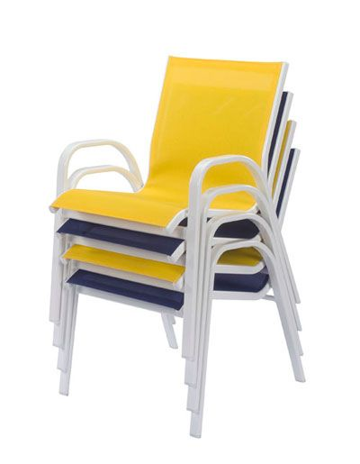 Seabreeze Aluminum Sling Patio Dining Chair Et Amp T