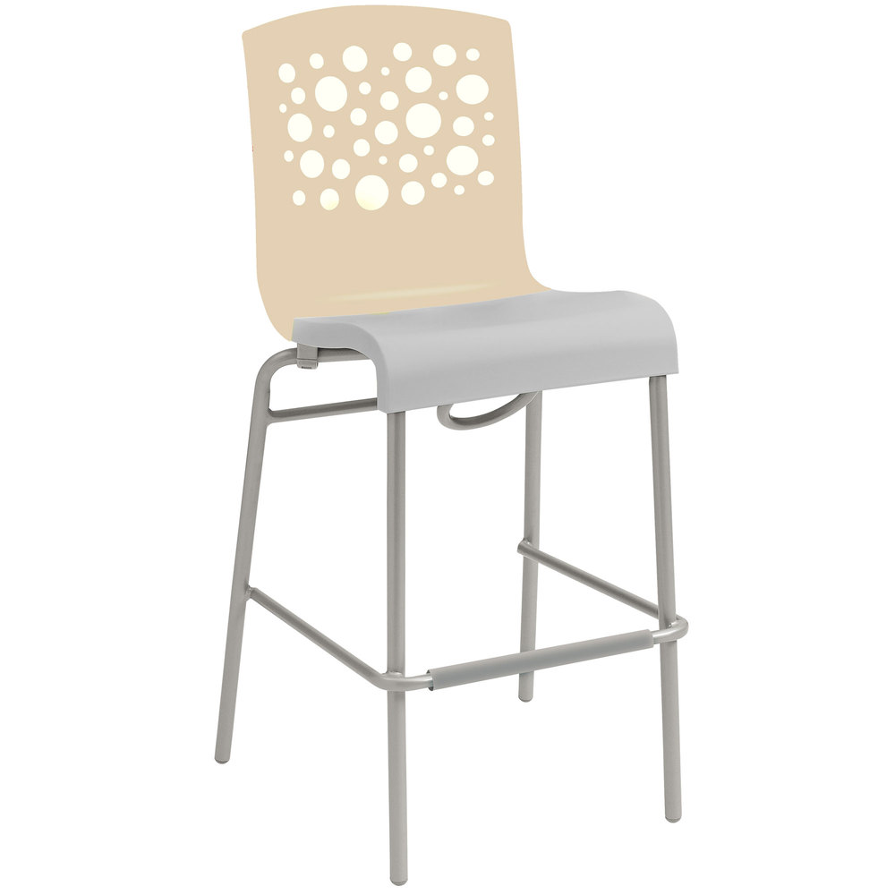 New grosfillex domino stacking patio dining chair et t distributors - Boutis beige et taupe ...