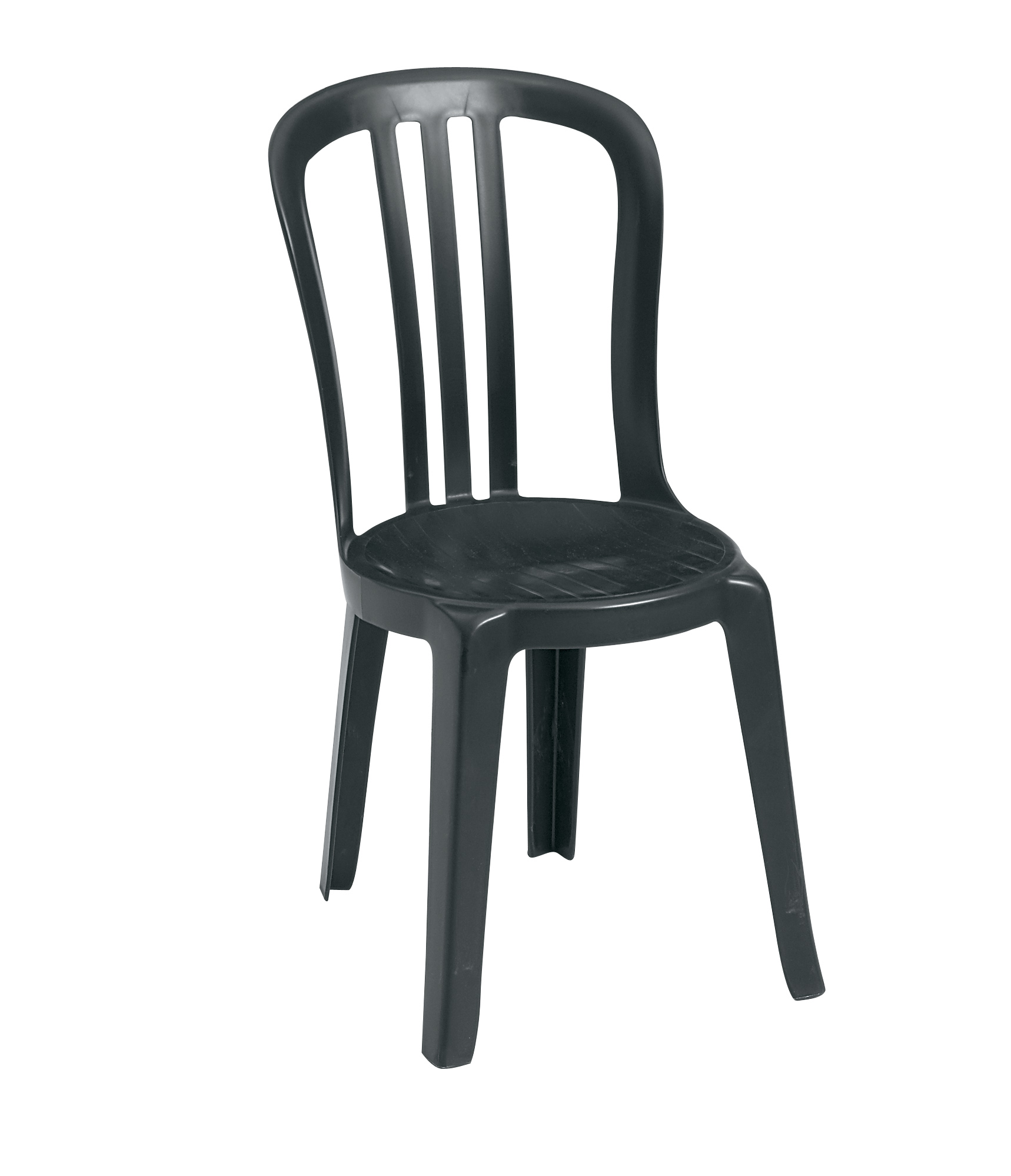 Grosfillex Miami Bistro Stacking Resin Patio Dining Chair w o Arms