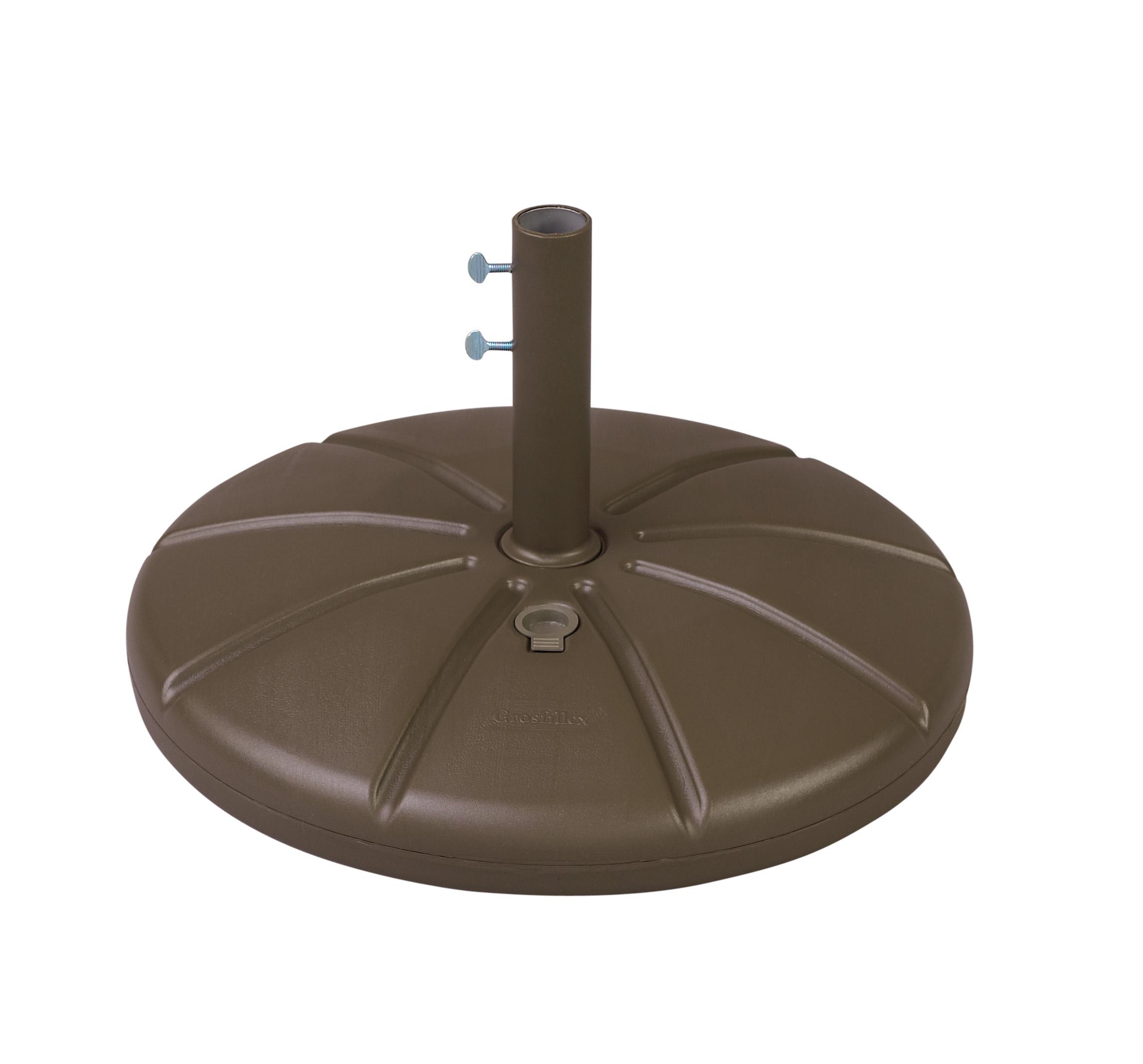 Grosfillex resin patio umbrella base with filling cap et t distributors - Zon parasol ...