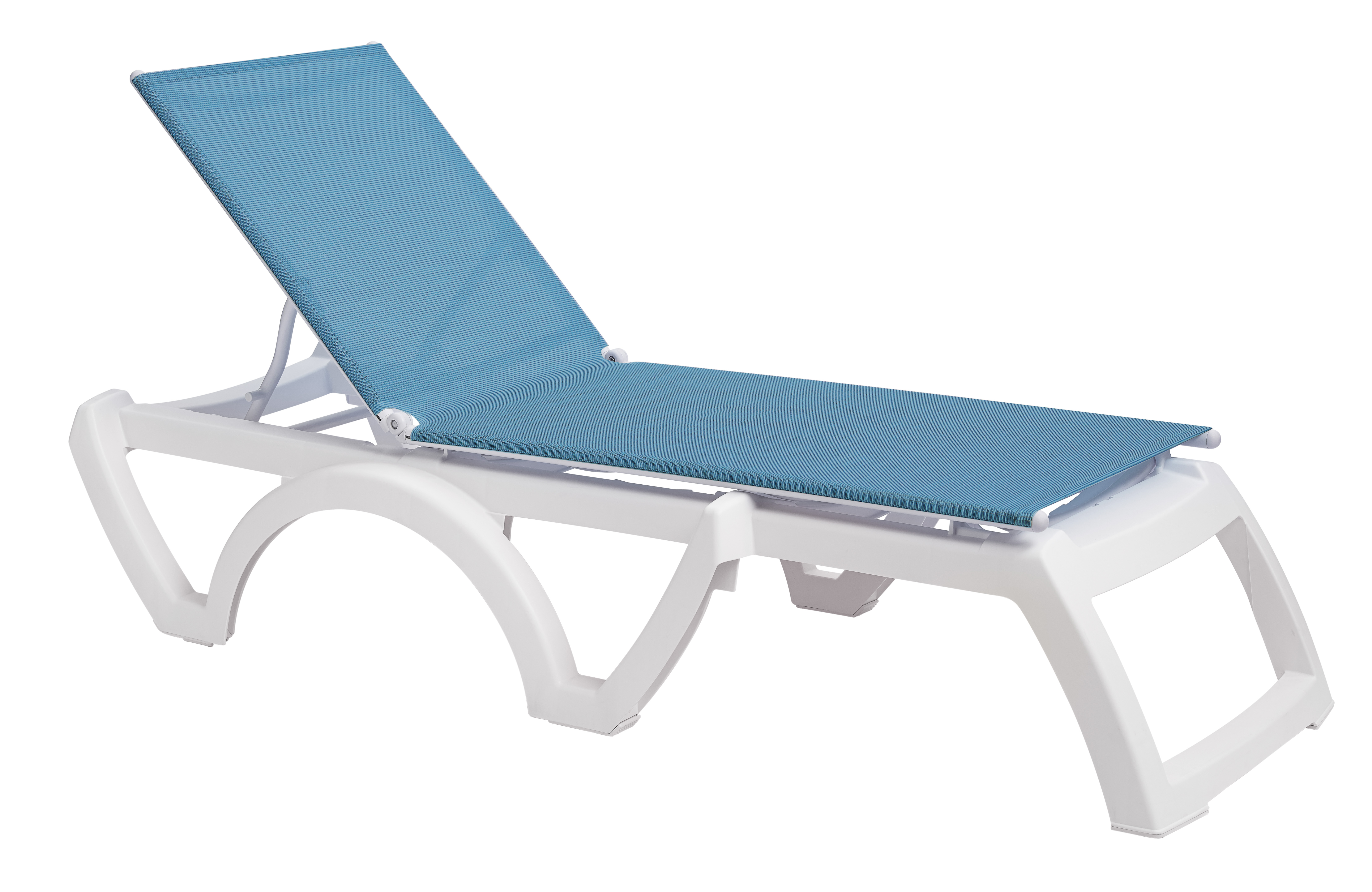 Grosfillex calypso resin adjustable sling chaise lounge et t distributors - Grosfillex chaise longue ...