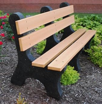 Colonial Recycled Plastic Park Bench Et T Distributors