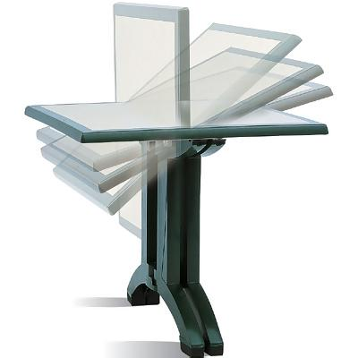 Square Resin Folding Patio Dining Table. More Images