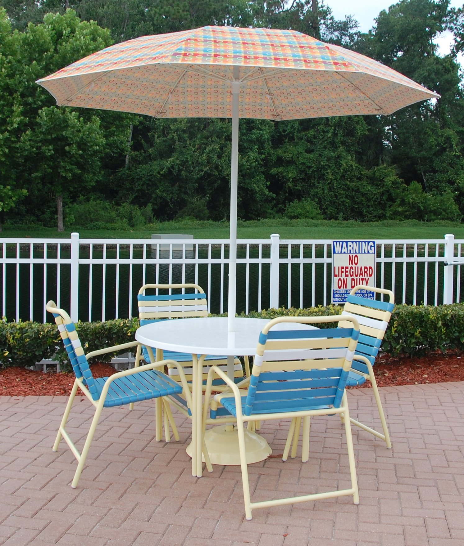 Country Club Aluminum Vinyl Strap Dining Chairs Most
