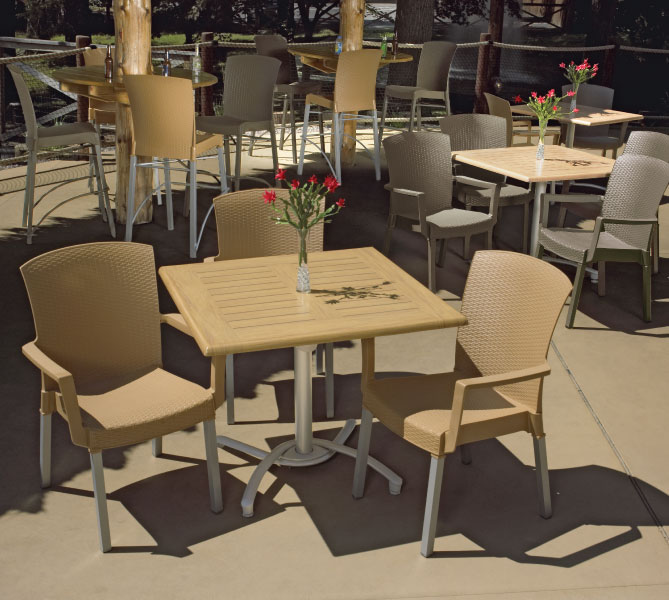 grosfillex havana classic resin patio dining armchair et t