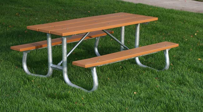 Galvanized Frame Recycled Plastic Picnic Table Et Amp T