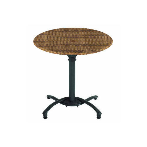 grosfillex 30 in. round molded melamine table top with ped base 100