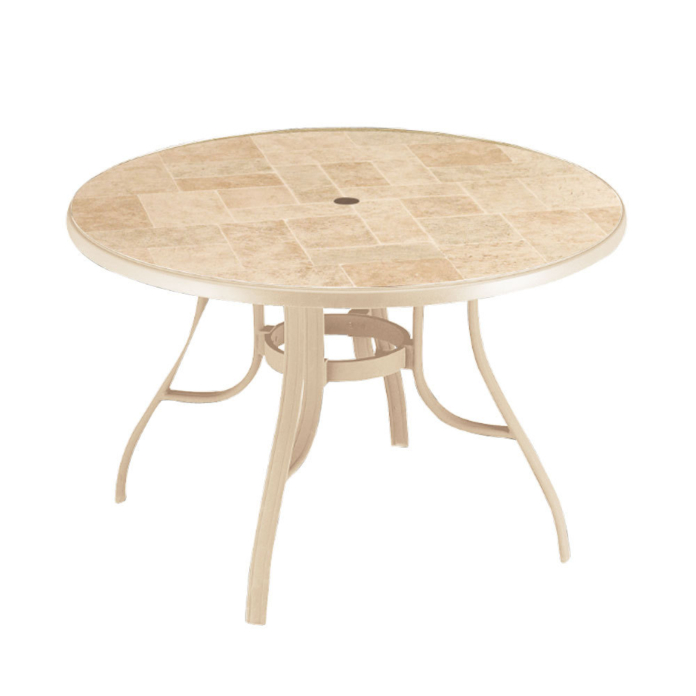 Louisiana Quot Toscana Decor Quot 48 Quot Round Table With Metal Legs