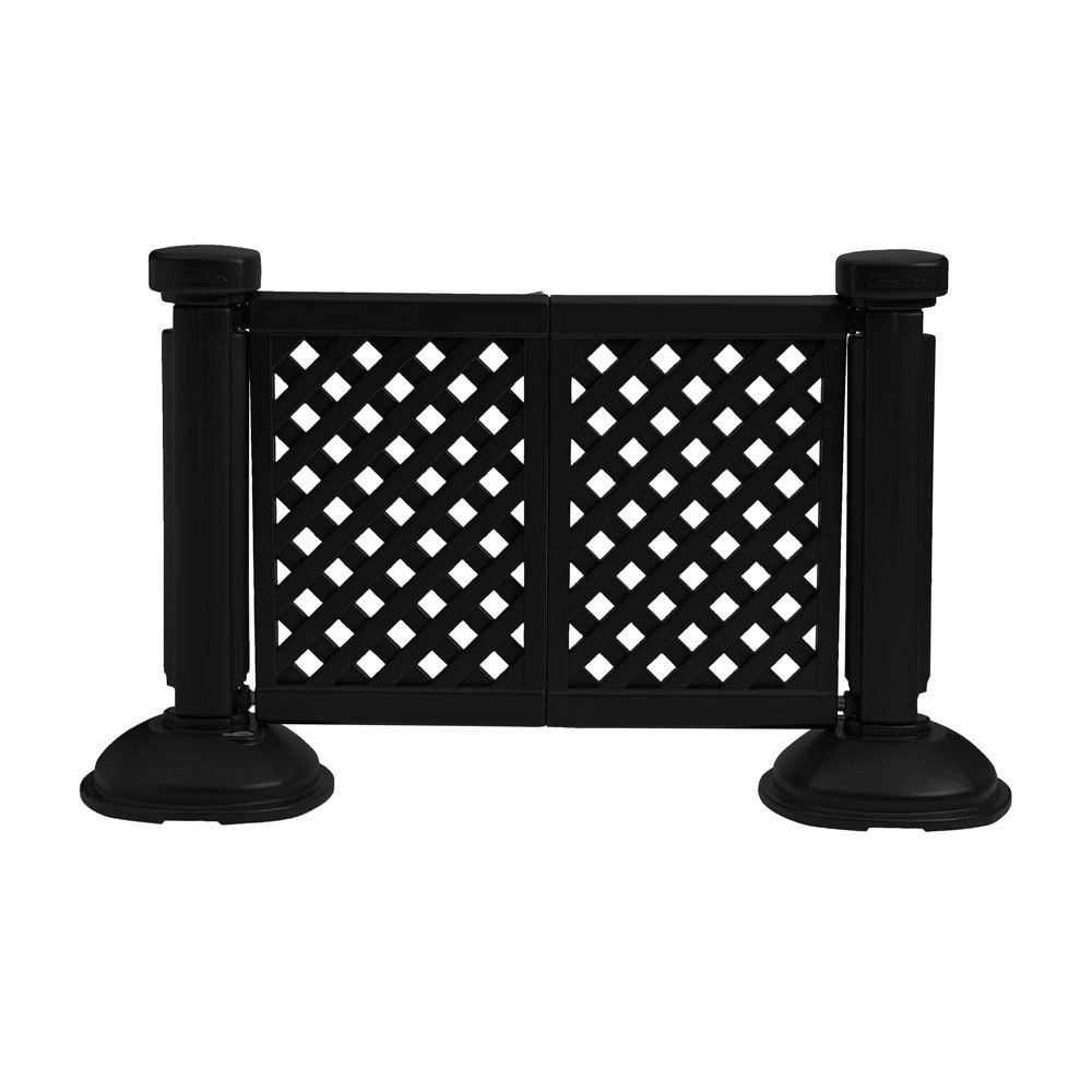 Portable Decorative Patio Fencing Post And Base Et Amp T