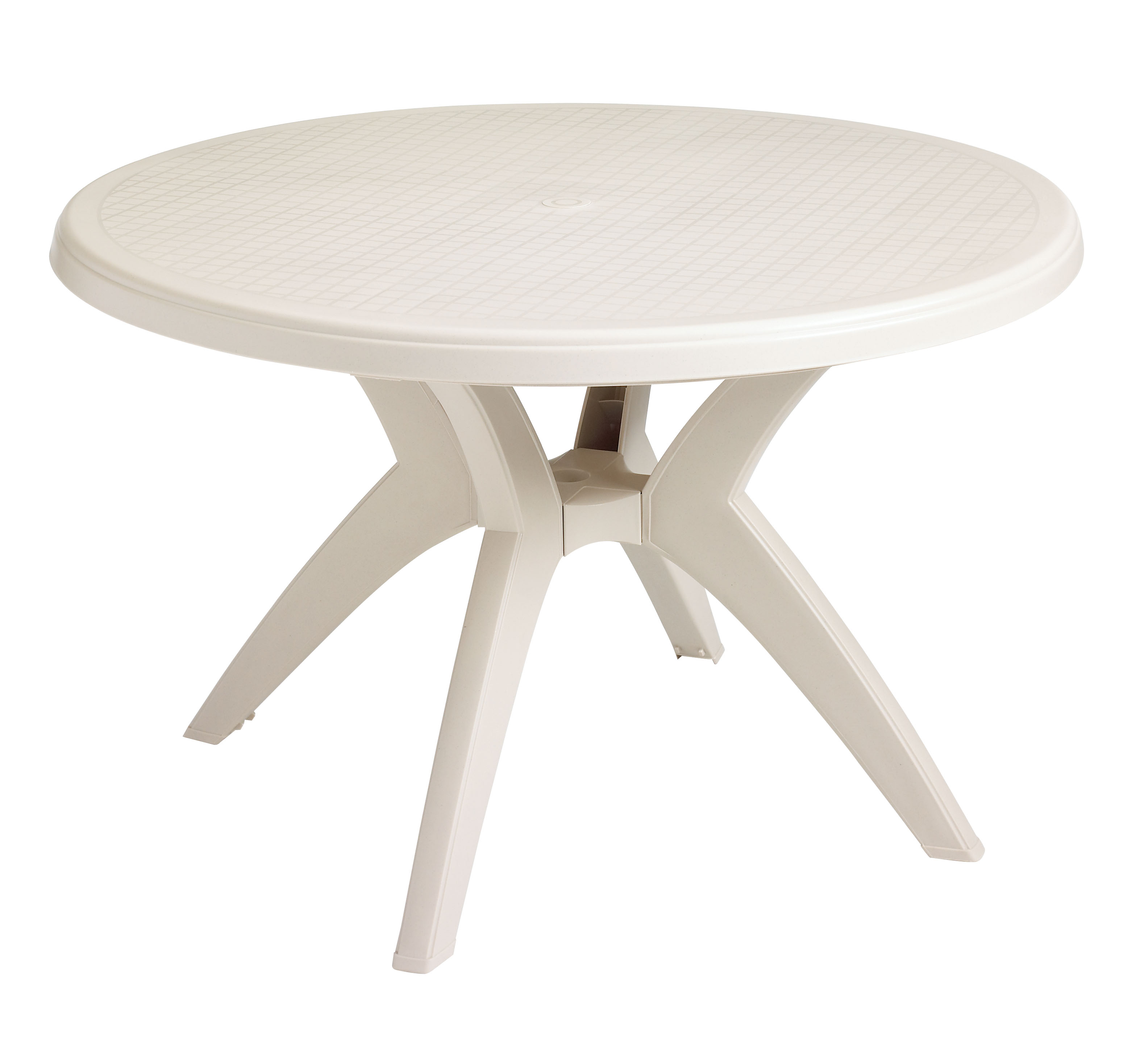 Superb US526704   Grosfillex Ibiza 46 In. Round Resin Patio Dining Table