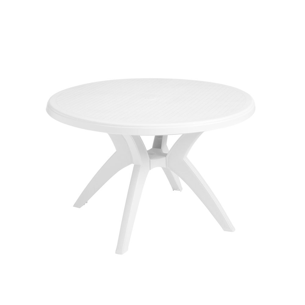 Grosfillex Ibiza 46 In Round Resin Patio Dining Table