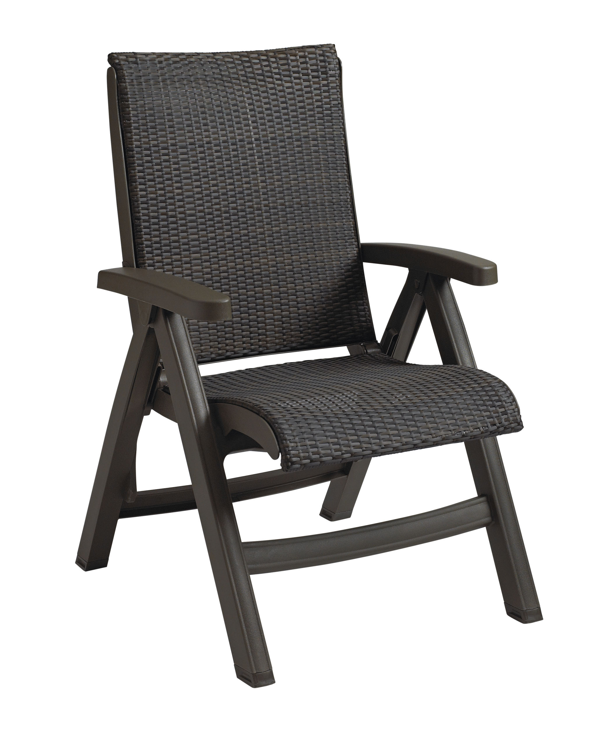 Java All Weather Wicker Resin Folding Chair