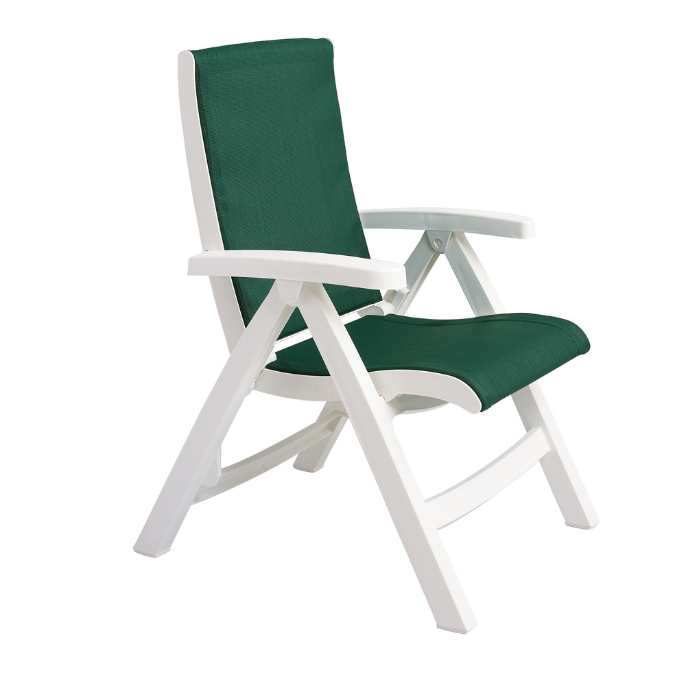 Belize Midback Folding Resin Patio Dining Chair – Sling Folding Chair