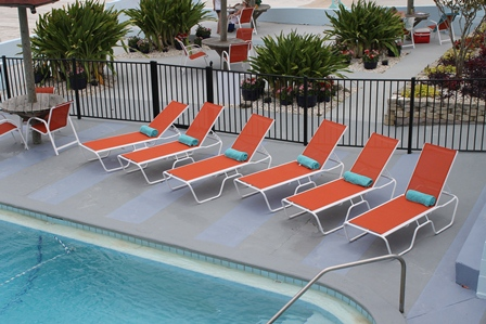 14 5 In Seat Country Club Aluminum Sling Patio Chaise